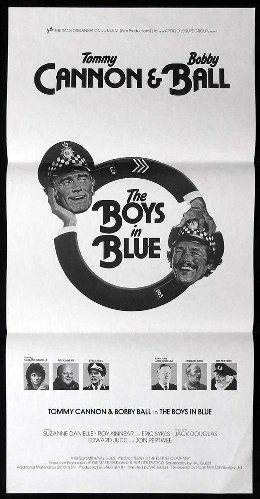 THE BOYS IN BLUE Rare Daybill Movie poster Tommy Cannon Bobby Ball Val Guest