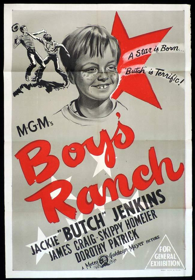 BOYS RANCH Original One sheet Movie Poster Jackie Butch Jenkins James Craig