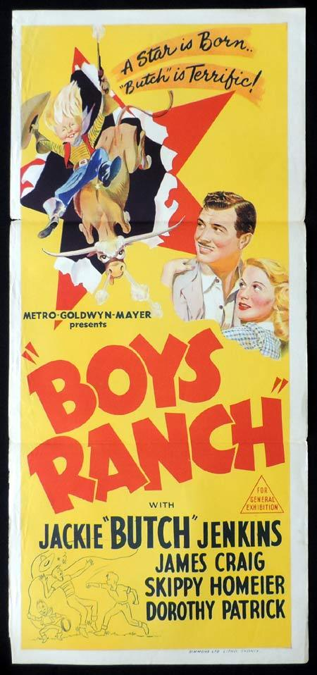 BOYS RANCH Original Daybill Movie Poster Jackie 'Butch' Jenkins