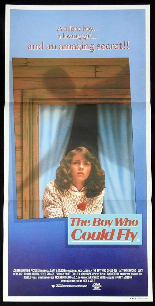 THE BOY WHO COULD FLY Daybill Movie poster Lucy Deakins Jay Underwood