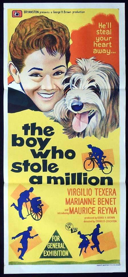 THE BOY WHO STOLE A MILLION Original Daybill Movie Poster Maurice Reyna Virgilio Teixeira