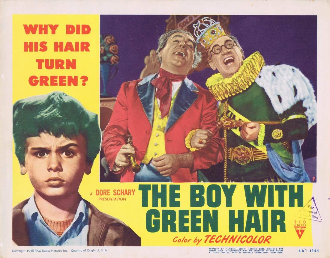THE BOY WITH GREEN HAIR Lobby Card Robert Ryan Pat O'Brien Dean Stockwell
