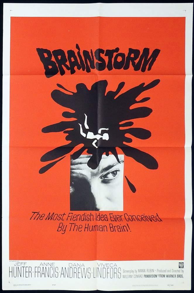 BRAINSTORM Original US One Sheet Movie Poster Jeffrey Hunter Anne Francis