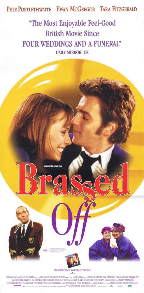 BRASSED OFF Original Daybill Movie Poster Pete Postlethwaite