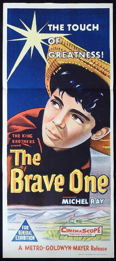 THE BRAVE ONE daybill Movie poster Michel Ray 1960sr