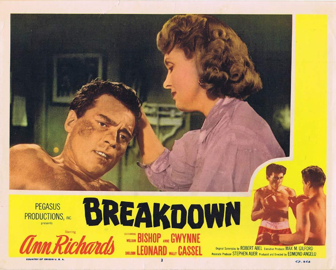 BREAKDOWN Lobby Card 3 Ann Richards William Bishop Anne Gwynne