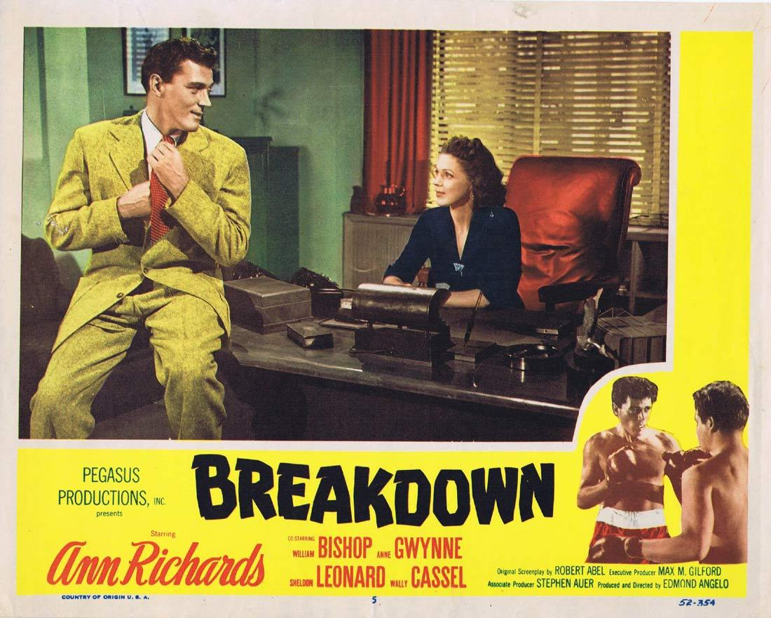 BREAKDOWN Lobby Card 5 Ann Richards William Bishop Anne Gwynne