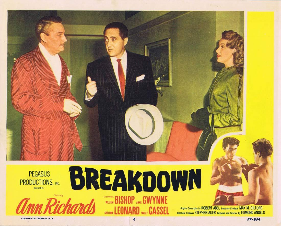 BREAKDOWN Lobby Card 6 Ann Richards William Bishop Anne Gwynne