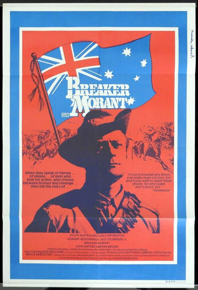 "BREAKER MORANT One sheet Movie poster Edward Woodward ""B"""
