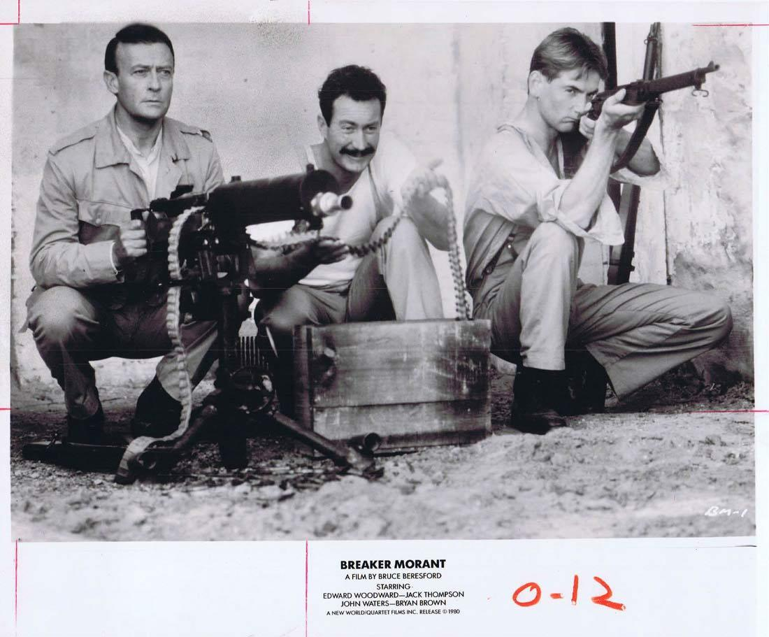 BREAKER MORANT Movie Still 2 Edward Woodward Bryan Brown Jack Thompson John Waters