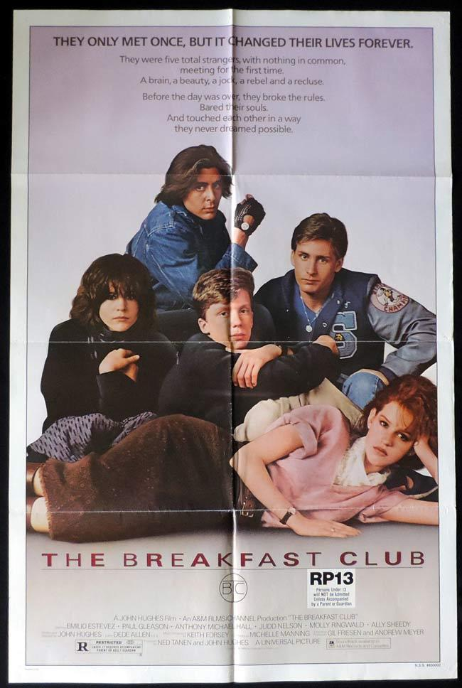 THE BREAKFAST CLUB One Sheet Movie Poster Emilio Estevez