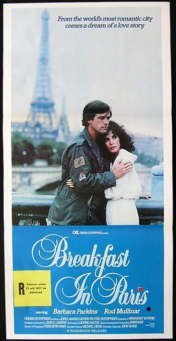 BREAKFAST IN PARIS 1982 Rod Mullinar Barbara Parkins Daybill Movie poster