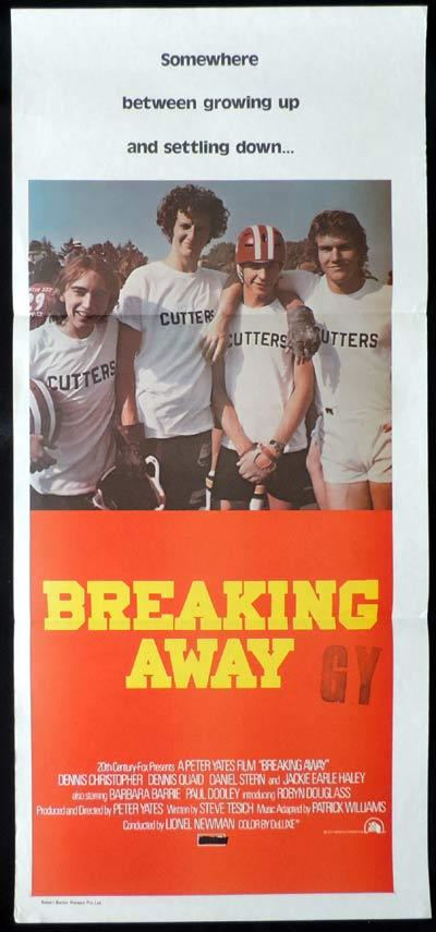 BREAKING AWAY daybill Movie poster Dennis Quaid Cycling