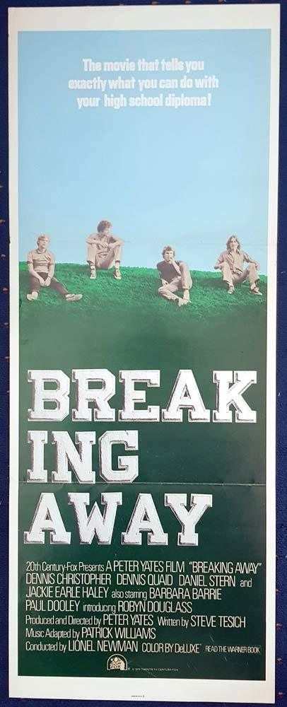 BREAKING AWAY Original US Insert Movie Poster Dennis Christopher Cycling