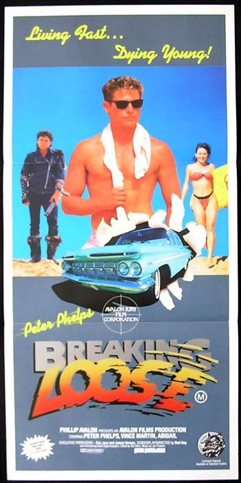BREAKING LOOSE '88 Peter Phelphs SURFING poster