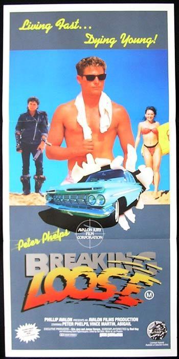 BREAKING LOOSE Daybill Movie poster Peter Phelphs SURFING