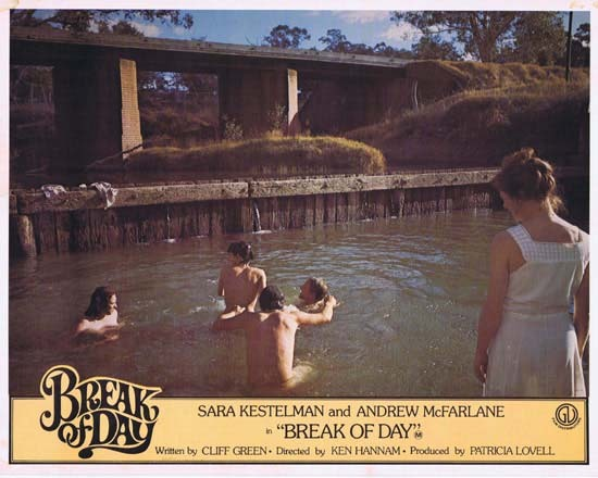 BREAK OF DAY Lobby Card 1 1976 RARE Australian Film