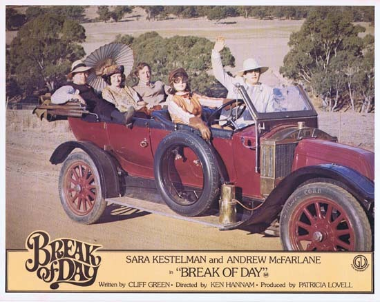 BREAK OF DAY Lobby Card 2 1976 RARE Australian Film