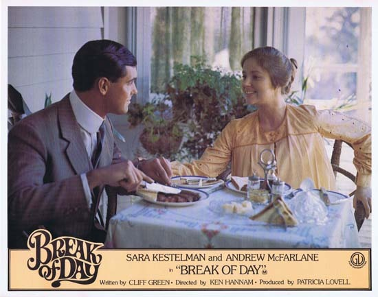 BREAK OF DAY Lobby Card 3 1976 RARE Australian Film