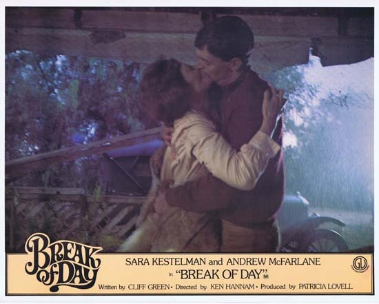BREAK OF DAY Lobby Card 6 1976 RARE Australian Film