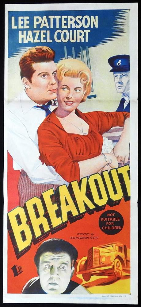 BREAKOUT Original Daybill Movie poster Lee Patterson Hazel Court
