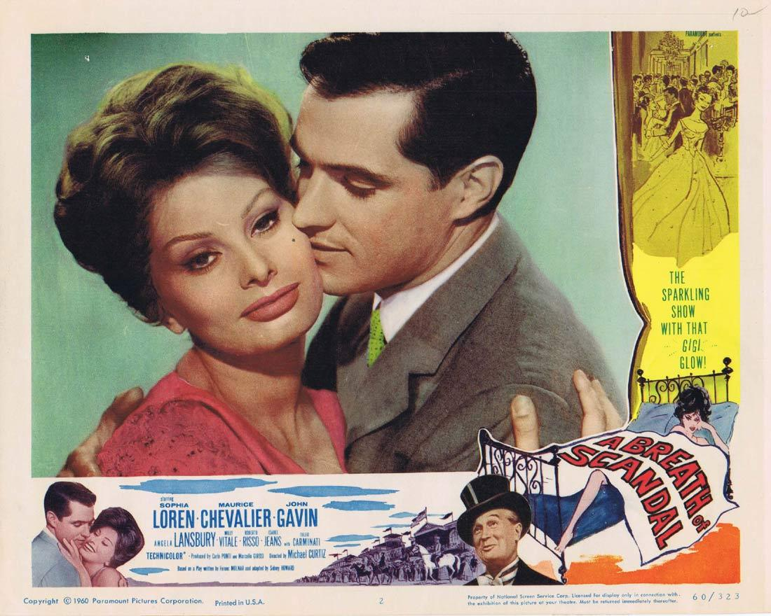 A BREATH OF SCANDAL Lobby Card 2 Sophia Loren Maurice Chevalier John Gavin