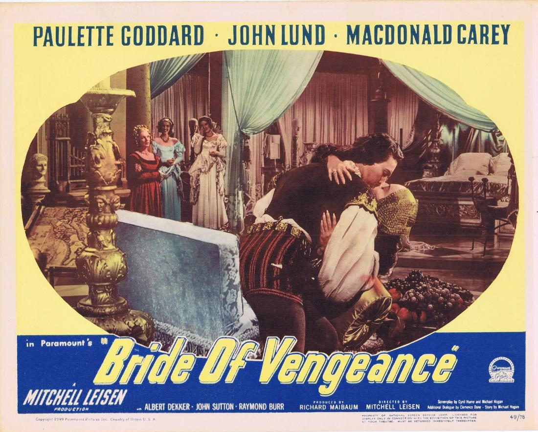 BRIDE OF VENGEANCE Lobby Card 2 Paulette Goddard John Lund MacDonald Carey