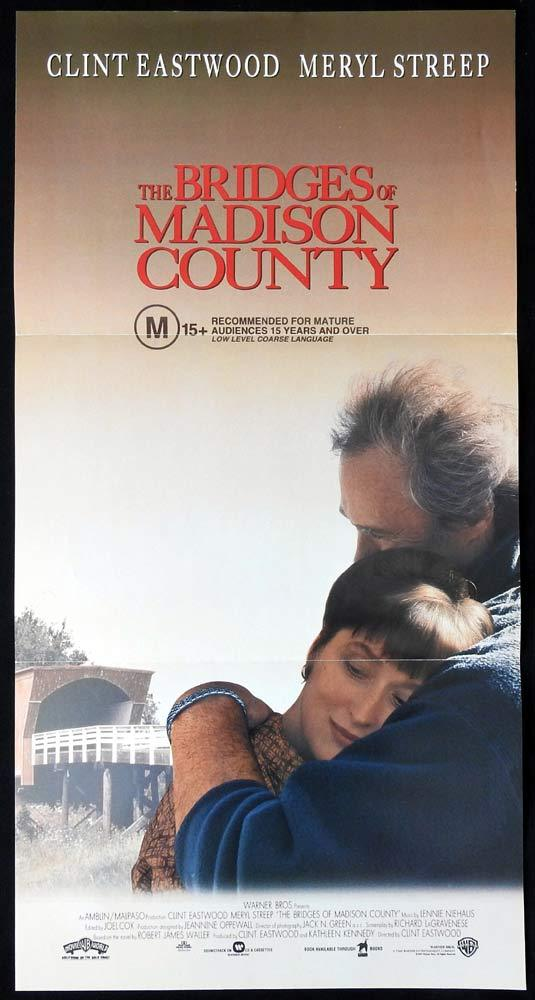 BRIDGES OF MADISON COUNTY Original Daybill Movie Poster Clint Eastwood