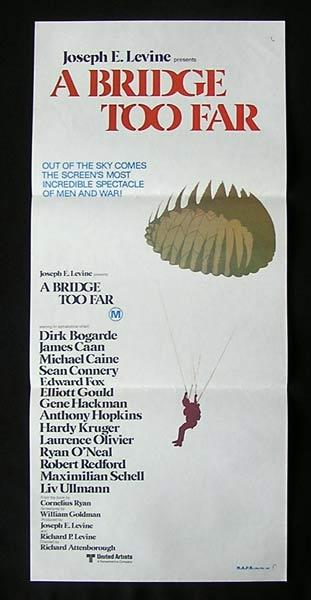 A BRIDGE TOO FAR daybill Movie poster Michael Caine