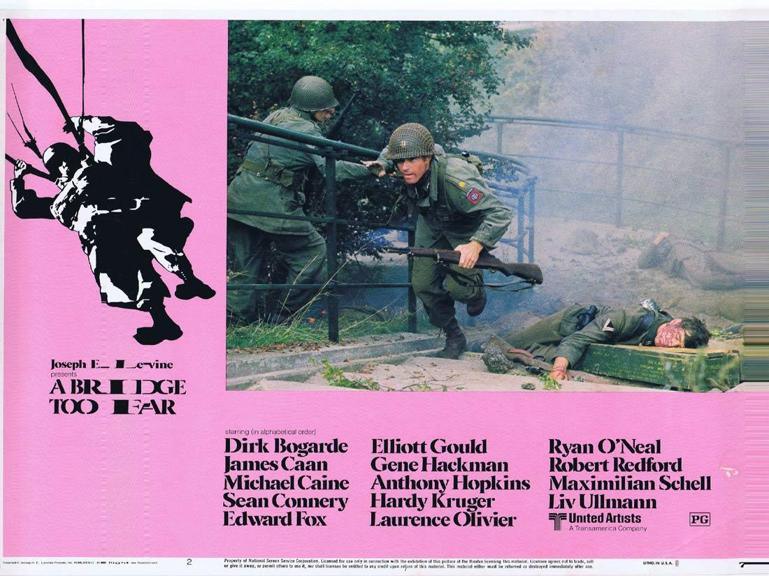 A BRIDGE TOO FAR Lobby Card 2 Dirk Bogarde James Caan Michael Caine Sean Connery