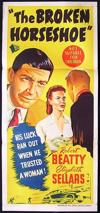 THE BROKEN HORSEHOE Original Daybill Movie Poster 1953 Film Noir