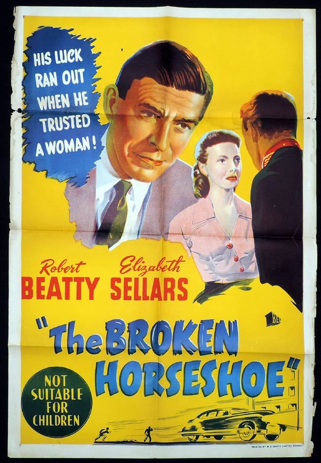 THE BROKEN HORSESHOE One Sheet Movie Poster Robert Beatty