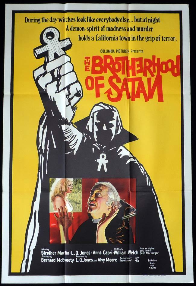 THE BROTHERHOOD OF SATAN One Sheet Movie Poster L. Q. Jones