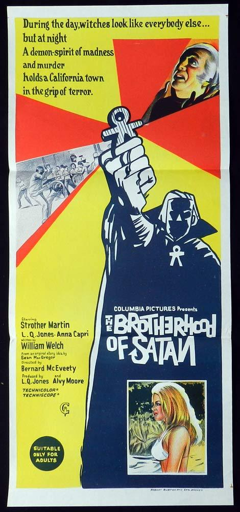 THE BROTHERHOOD OF SATAN Original Daybill Movie Poster Strother Martin L.Q. Jones
