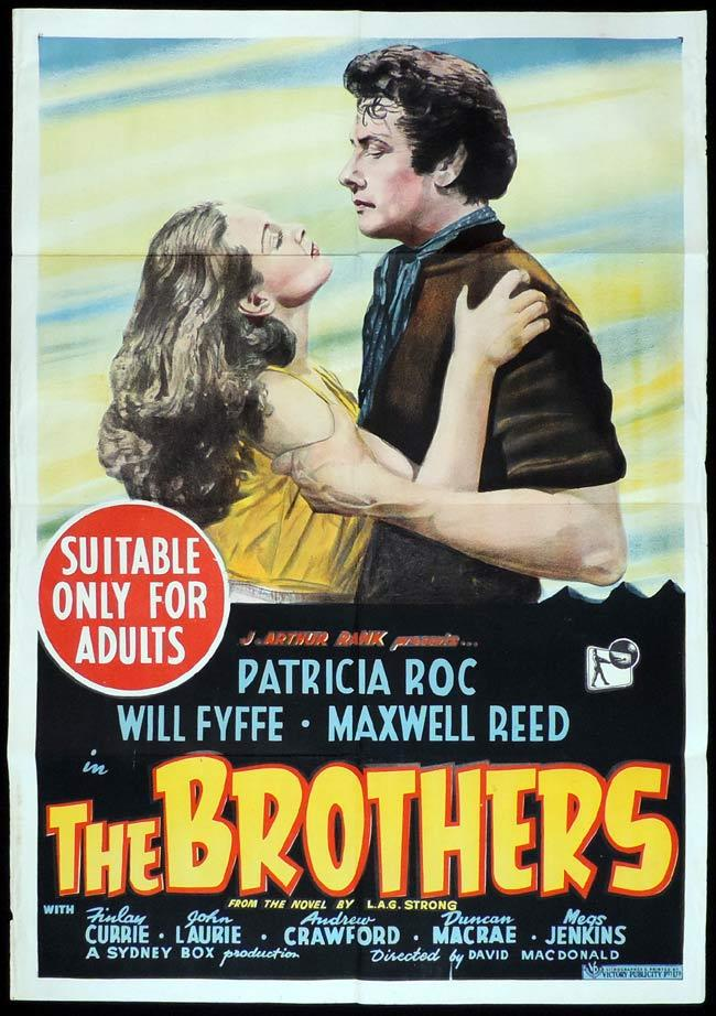 THE BROTHERS Original One sheet Movie Poster Patricia Roc Maxwell Reed