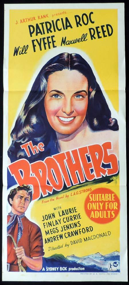 THE BROTHERS Original Daybill Movie Poster Patricia Roc