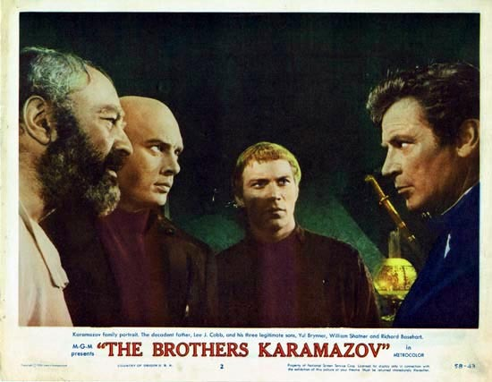 THE BROTHERS KARAMAZOV 1958 Lobby Card 2 Yul Brynner