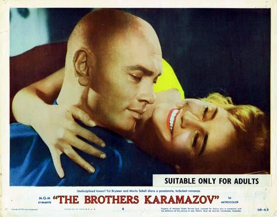 THE BROTHERS KARAMAZOV 1958 Lobby Card 4 Yul Brynner