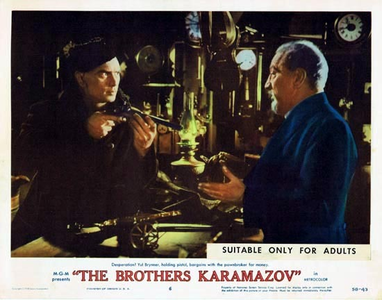 THE BROTHERS KARAMAZOV 1958 Lobby Card 6 Yul Brynner