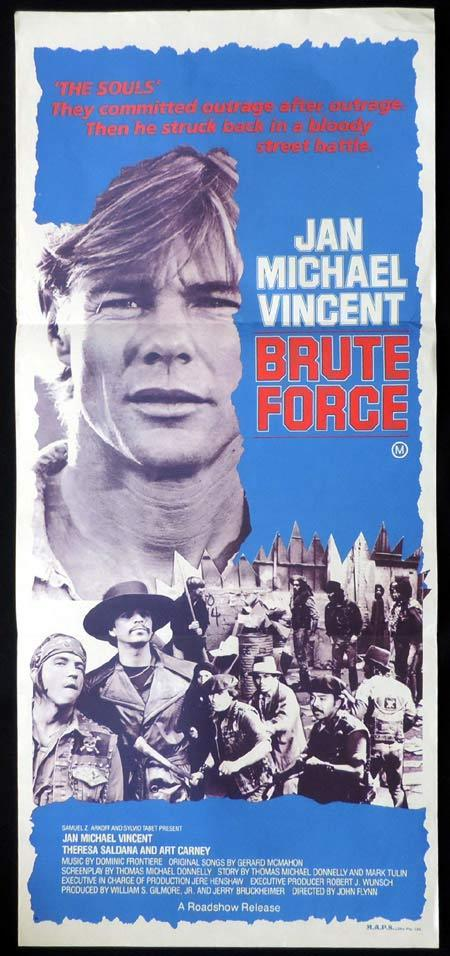 BRUTE FORCE Original Daybill Movie Poster Jan Michael Vincent