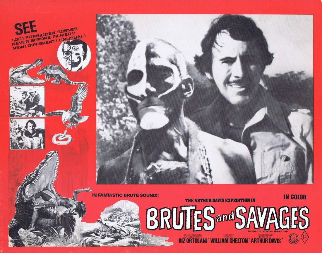 BRUTES AND SAVAGES Rare Australian Lobby Card 1 Arthur Davis Expedition