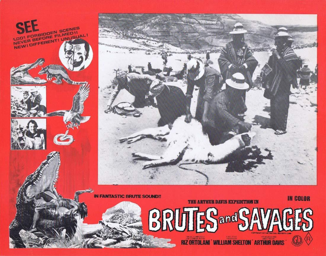 BRUTES AND SAVAGES Rare Australian Lobby Card 2 Arthur Davis Expedition
