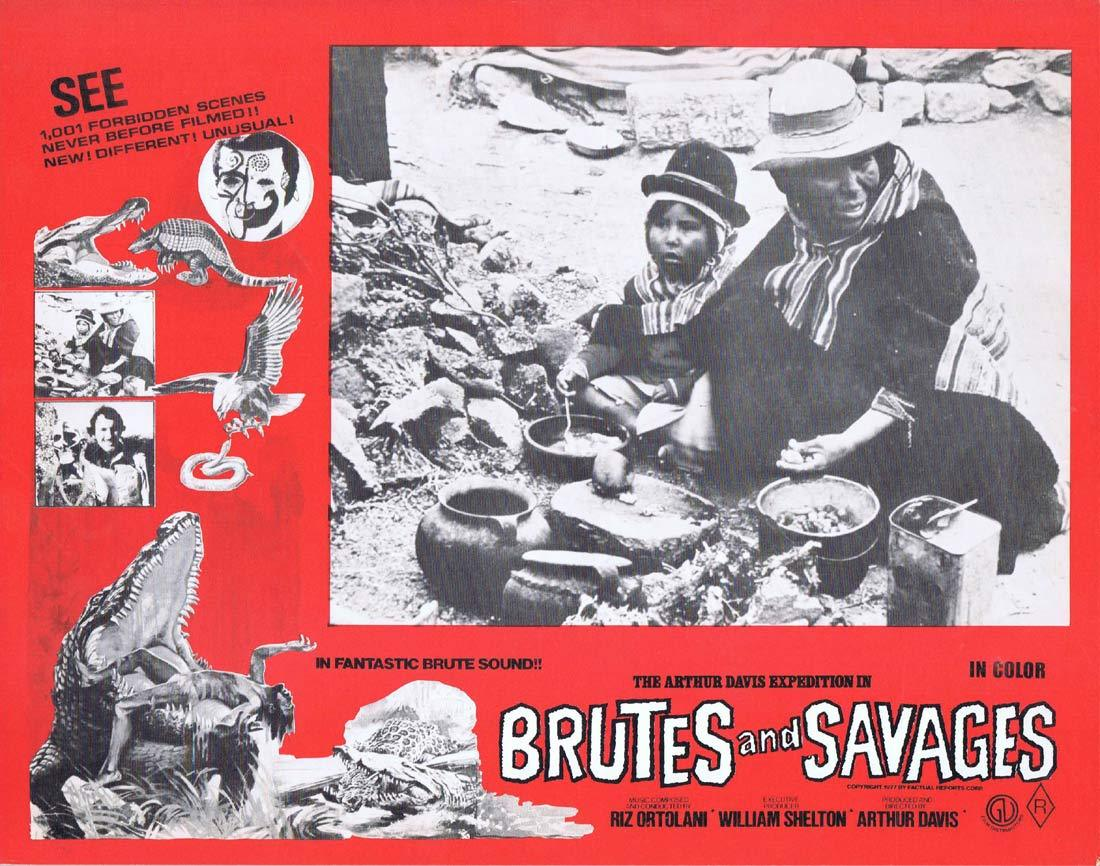 BRUTES AND SAVAGES Rare Australian Lobby Card 3 Arthur Davis Expedition