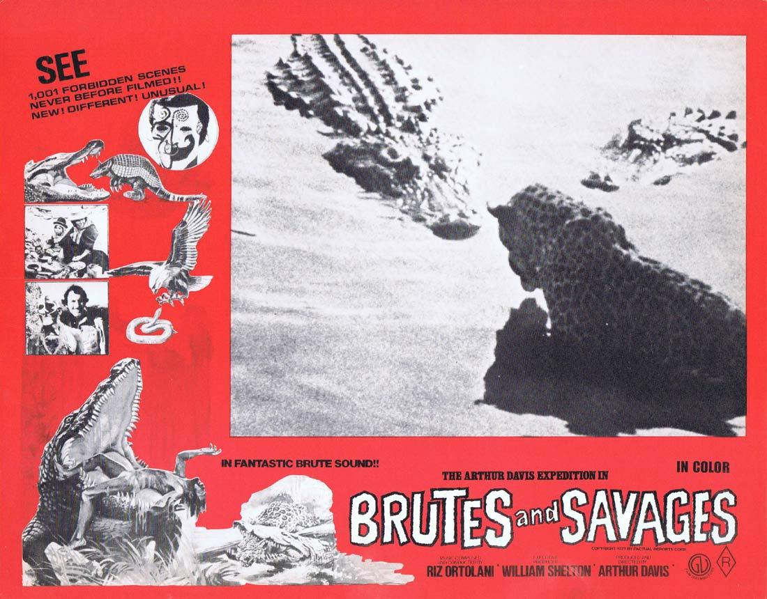 BRUTES AND SAVAGES Rare Australian Lobby Card 5 Arthur Davis Expedition