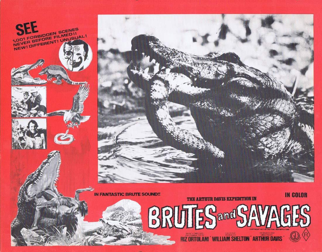 BRUTES AND SAVAGES Rare Australian Lobby Card 6 Arthur Davis Expedition