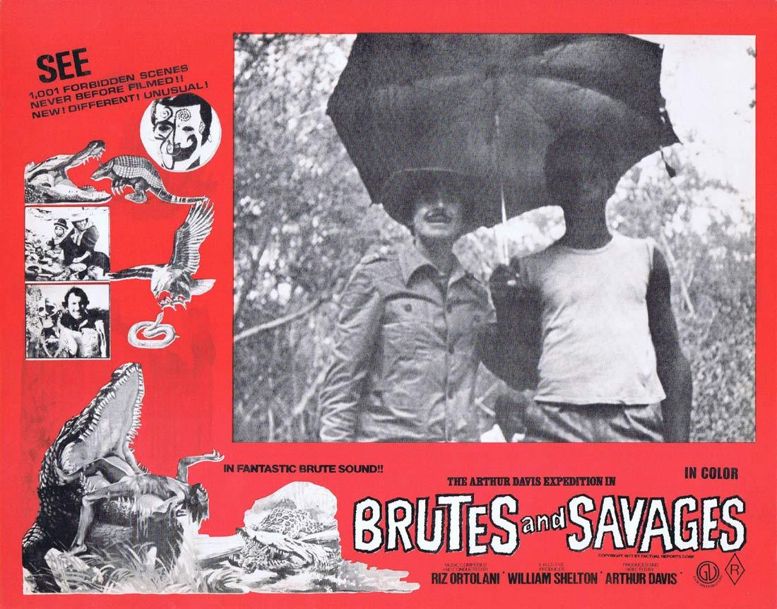 BRUTES AND SAVAGES Rare Australian Lobby Card 8 Arthur Davis Expedition