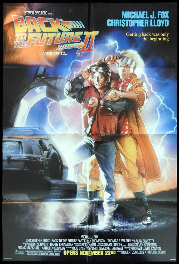 BACK TO THE FUTURE 2 US One sheet Advance Movie poster