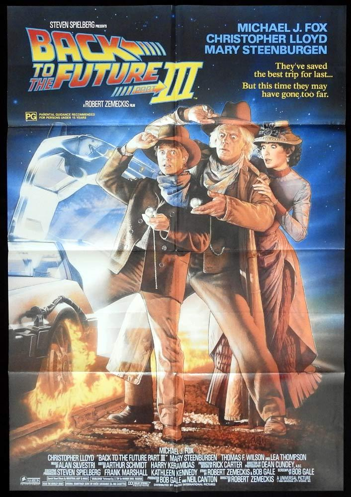 BACK TO THE FUTURE 3 Australian One sheet Movie poster