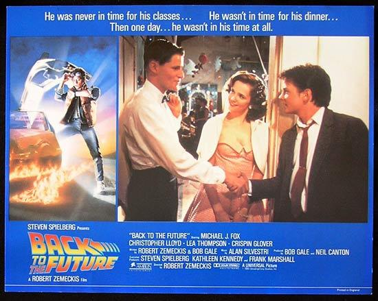 BACK TO THE FUTURE 1985 Rare STRUZAN ART Lobby Card 1