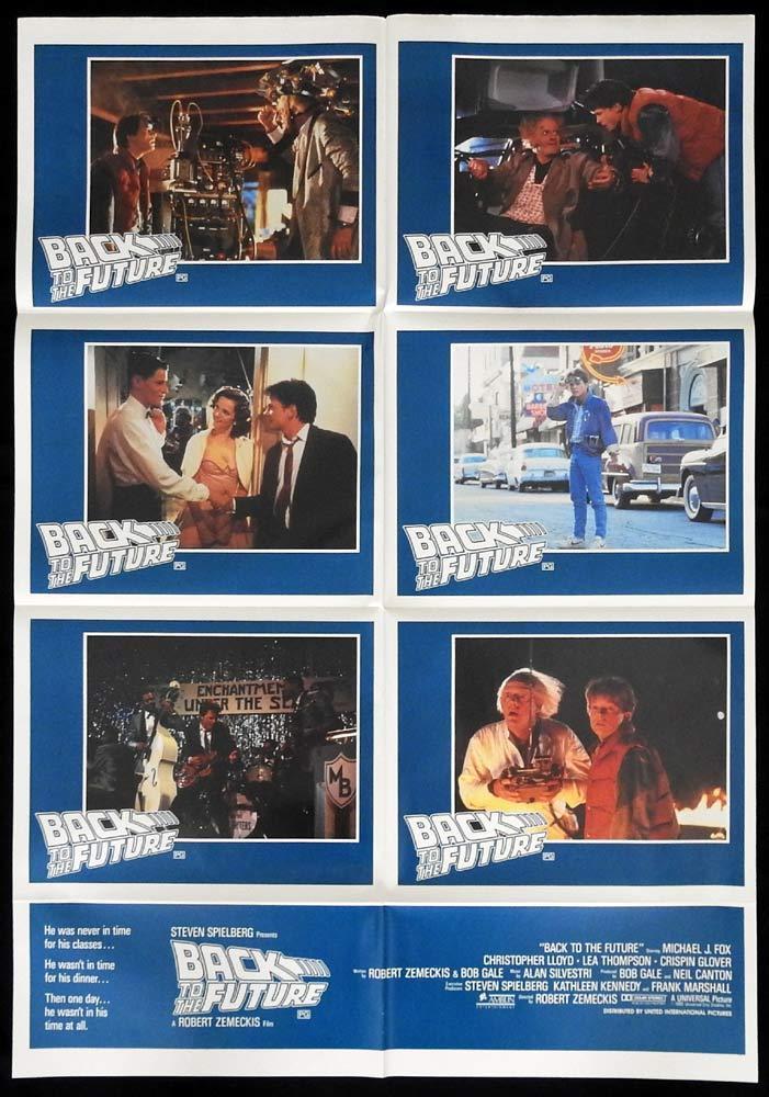 BACK TO THE FUTURE Original Photo Sheet Movie poster Michael J.Fox